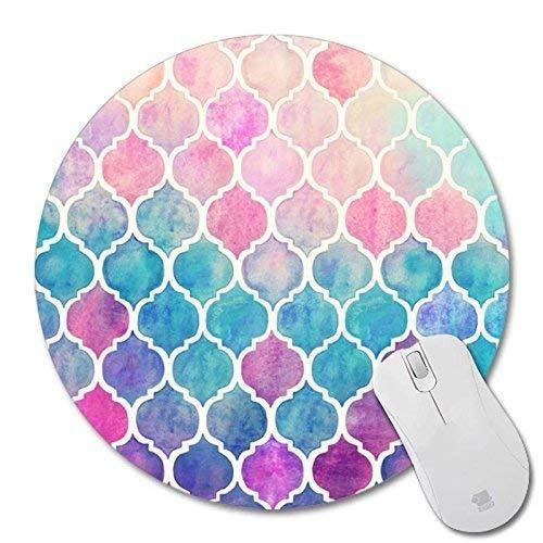 2017Calendario con Vacaciones Rectángulo Antideslizante de Goma Mousepad ratón para Videojuegos, Colourful, 220x220mm