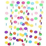 Jonami Ghirlanda di Carta Puntini Multicolore 9 Metri, Festoni Arcobaleno per Carnevale. Decorazione Festa di Compleanno per Bambini