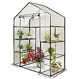 Invernaderos Plastico huerto terraza Cubiertas Grandes de PVC, Cubierta Transparente para Planta, Protector para jardín de Flores al Aire Libre (Color : 143×73×195 cm)