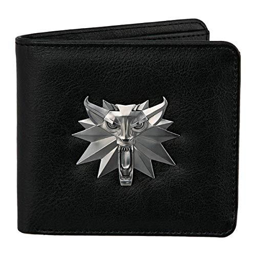 Close Up The Witcher 3: White Wolf Geldbeutel mit Metall-Logo