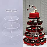Bunao Cupcake Ständer, Kuchenständer 5-Stufig Acryl Halten sie Cupcakes Desserts für Nachmittagstee Party Baby Duschen Hochzeiten (5-Stufig)