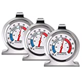 SLKIJDHFB Refrigerator Thermometer Classic Fridge Thermometer Large Dial with Red Indicator Thermometer