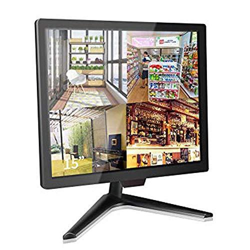 CCTV Monitor, 15 Pollici BNC Monitor, Cocar LCD Display per Home Security Telecamera Sorveglianza PC STB, 1024x768 Schermo con Altoparlante Incorporato, BNC/VGA/HDMI/Audio/Vesa Parete Montaggio