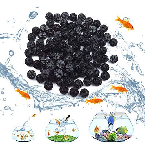 100 Pieces Bio Balls for Aquarium Filter Media, Bio Balls with Sponge Aquarium Filter Media Tank, Perfect for Pond Filter Media, Fish Tank Pond, Aquarium(16mm)