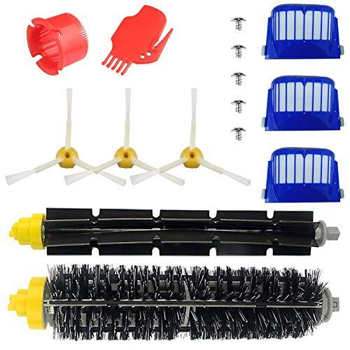 Kit Pièces Accessoires pour iRobot Roomba Série 600 Kit d'entretien avec Brosses & Filtres pour 600 605 610 615 616 620 621 625 630 631 632 650 651 660 670 680 691 696 Kit de 15 pièces
