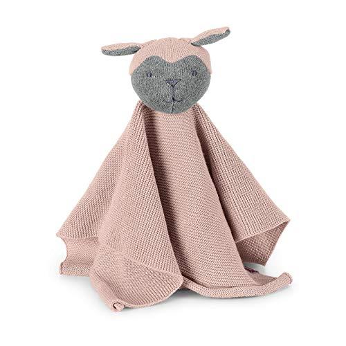 Sterntaler Strick-Schmusetuch Schaf, Alter: Für Babys ab dem 1. Monat, Bio Baumwolle, Größe: 25 x 20 cm, Farbe: Rosa