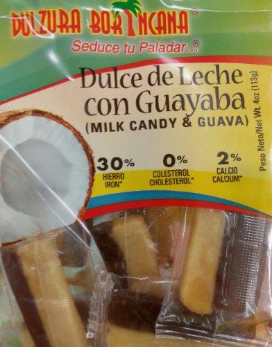 Dulzura Borincana Dulce de Leche con Cuayaba, Entree Bites Milk Candy with Guava, 4 Ounce (Pack of 1)