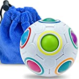 Rainbow Puzzle Ball with 11 Rainbow Colors, Puzzle Ball with Pouch Color-Matching Puzzle Game Fidget Toy, Stress Reliever Rainbow Puzzle Ball Brain Teaser for Kids and Adults