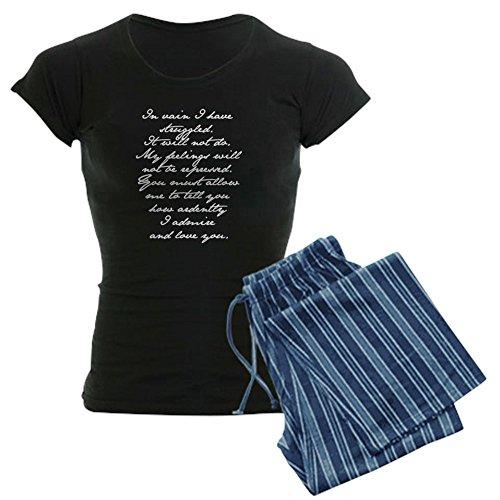 CafePress Jane Austen Pride and Prejudice Proposal Speech 5 Womens Novelty Cotton Pajama Set, Comfortable PJ Sleepwear