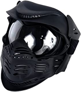 Lancer Tactical Airsoft Double Pane Lens Full Face Safety Mask - Black