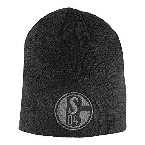 Schalke 04 Wendemütze/Wolli/Mütze schwarz/grau S04