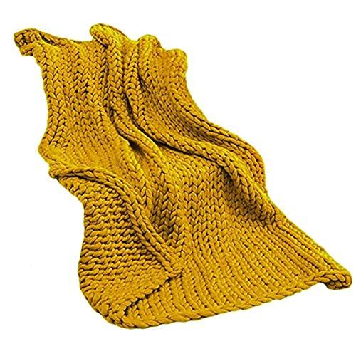 WWL Manta de punto hecha a mano gruesa de acrílico 6 cm original sofá de punto grueso manta gigante hecha a mano lavable manta voluminosa manta de punto gruesa hecha a mano manta gruesa hecha a mano