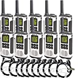 Retevis RT45 Two Way Radio Long Range Rechargeable Walkie Talkies with Headset FRS Dual Watch Flashlight Call Tone VOX 2 Way Radio(10 Pack)