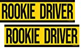 Artisan Owl Rookie Driver - New Driver Safety Funny Magnetic Auto Bumper - 10x3 Car Magnet (2 Magnets)