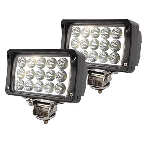 BRIGHTUM 2 X 45W phare de travail LED lampe voiture SUV ATV tracteur pelleteuse camion grue 4x4 camion Work light Phare LED Lampe à LED pour véhicule tout-terrain 12V 24V Lumière LED