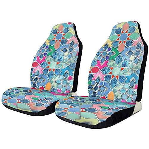 Preisvergleich Produktbild Xiaoyinghua Autositzbezüge Pretty Pastel Moroccan Tile Mosaic Universal Vordersitzbezüge