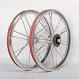 ZCBDNB Faltrad Räder,16 Zoll V Brake Kleine Fahrrad Wheelset Alufelge Front 2 Hinten 4 Lager Nabe...