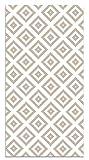 Panorama Alfombra Vinílica Cuadros Rosa 80x150 cm - Alfombra Cocina Vinilo - Alfombra Salón Antideslizante, Antihongos e Ignífuga - Alfombras Grandes - Alfombras PVC