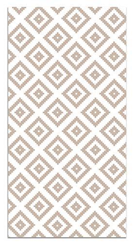 Panorama Alfombra Vinílica Cuadros Rosa 160x230 cm - Alfombra Cocina Vinilo - Alfombra Salón Antideslizante, Antihongos e Ignífuga - Alfombras Grandes - Alfombras PVC