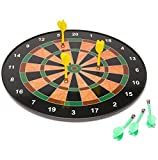 18' Official Size Magnetic Dartboard With 6 Darts Included Child Kids Dart Board Game Fun Play