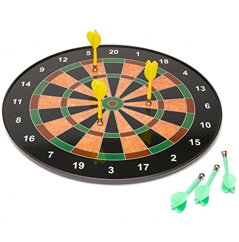 18' Official Size Magnetic Dartboard With 6 Darts Included...