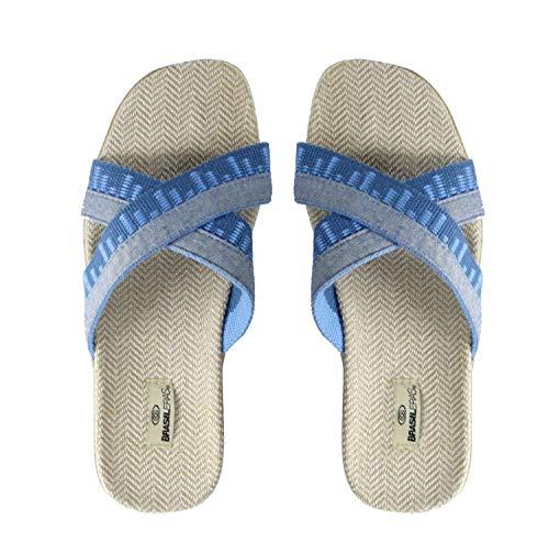 Brasileras Cruzadas Sandalias Flip-Flop, Hombre, Azul (Lt.Blue), 42/43 Eu