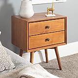 Walker Edison Mid Century Modern Wood Nightstand Side Bedroom Storage Drawer...