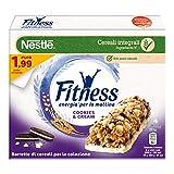 Nestlé Fitness Cookies&Cream Barretta di Cereali Integrali con Biscotti al Cacao e Cioccolato 4 Pezzi