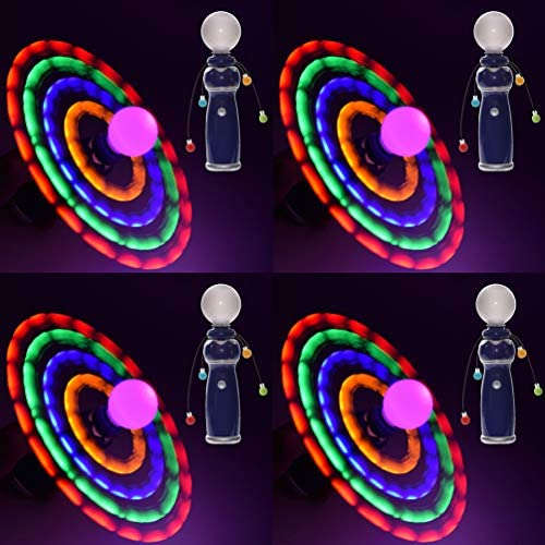 GlowCity LED Light Up Galaxy Spinner 5 x Bright Colored Horizontal or Orbital Spinning Orbs product image