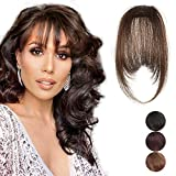 Clip in Bangs 100% Human Hair Extensions One Piece Front Neat Air...
