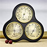 GXFC Environmental Weather Station, Wood Structure Barometer, Weather Meter Thermometer Hygrometer Barometer Station Wall Decoration