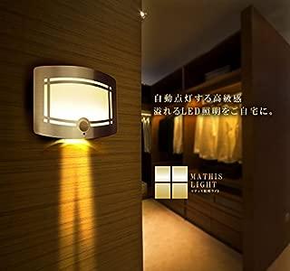 【 明るさ調整可能 】 照明 LEDライト 高級感 人感センサー 明るさセンサー ECO 自動点灯4000K 壁掛け 10灯 インテリア おしゃれ 人気 SY-MATIS