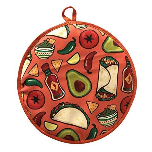 Poche chauffante pour tortilla 30,5 cm pour garder les tortillas au chaud et frais pour maïs, farine, taco, pizza, pain