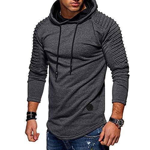 mens long sleeve hoodies casual