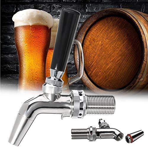 Janolia RVS Drank Dispenser,Forward Sealing Design,Vervangende Kraan Voor Thuis Brew Wijn Bier Sap Koud Drink- Sliver