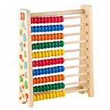 Symiu Ábaco De Madera Matematicas Aprendizaje Juego Montessori Juguetes Niños para 3 4 5 6 Años