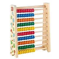 🔢 Giochi di Legno per L'apprendimento Colorati per Bambini - Questo giochi legno aiuta i bambini a imparare la matematica, i numeri e il riconoscimento dei colori. I genitori possono scegliere questo classico abaco in legno come giocattolo per l'appr...
