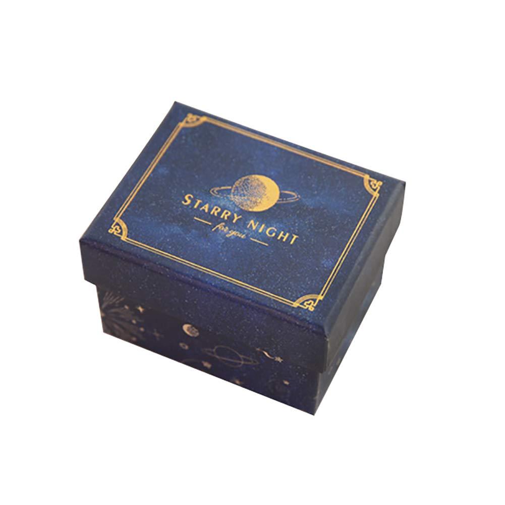 WDOIT - Caja de Regalo Rectangular de cartón para Regalo, Color Oscuro, Azul Oscuro, 9 * 6.5 * 6cm: Amazon.es: Hogar