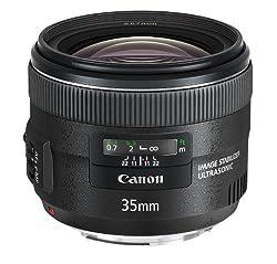 Canon Objektiv EF 35mm F2 IS USM für EOS (Festbrennweite, 67mm Filtergewinde, Bildstabilisator), schwarz