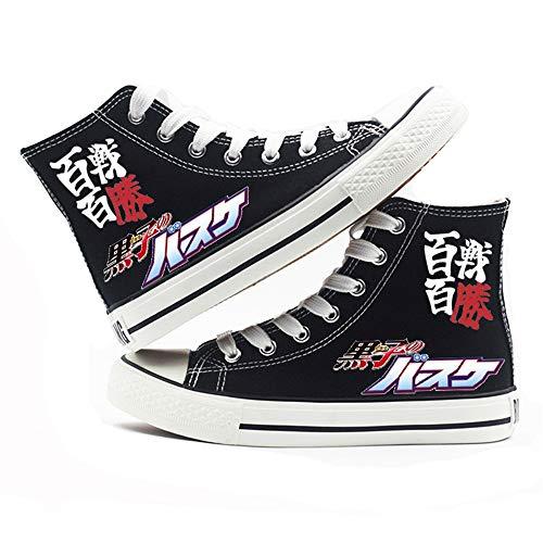 jiushice Kuroko 's Baloncesto, Cosplay zapatos de lona, zapatos unisex para adultos, con cordones, botines informales, zapatos deportivos para gimnasio, color, talla 35 1/3 EU