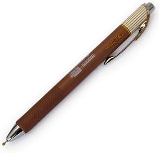 ぺんてる エナージェルクレナ インク/ブラウン 0.5mm〈極細〉ニードルチップ BLN75L-E 本体サイズ:16x11x147mm/13g