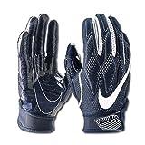 NIKE Men's Super Bad 4.5 Football Gloves (Navy, Medium)