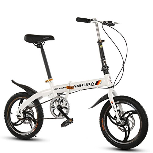 YEARLY Bicicleta Plegable Estudiante, Bicicleta Plegable Ocio Hombres y Mujeres Frenos de...