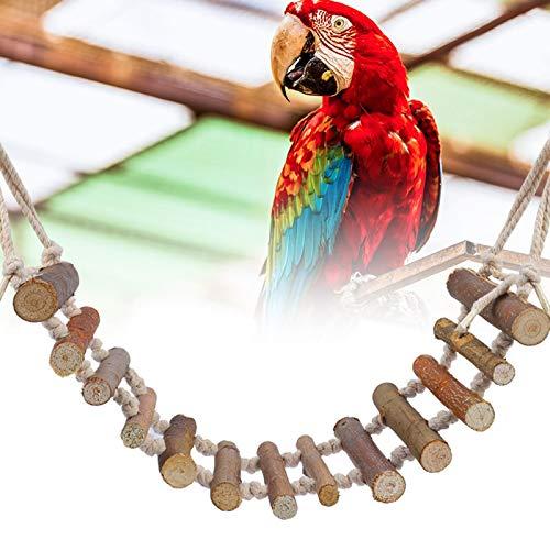 Aoutecen Escalera de Madera para pájaros, pájaro, Loro, Columpio, Juguete, Puente Colgante, para Gatear, Juguetes para pájaros, Loro, pájaro, Puente de Madera para Loro, agapornis, Escalada,