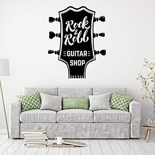 hetingyue Rock muziek muur applique gitaar winkel decoratie waterdicht vinyl sticker kunst muurschildering