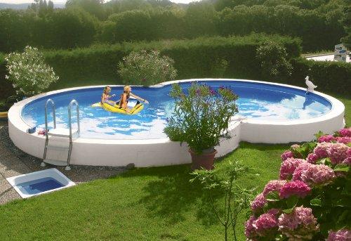 MYPOOL Achtformpool »Premium« inkl. Bodenschutzvlies (in 6 Größen) 360 cm x 120 cm x 625 cm