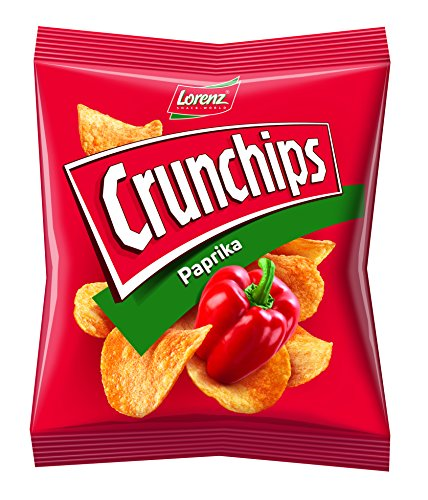 Lorenz Snack World Crunchips Paprika, 16er Pack (16 x 50 g)