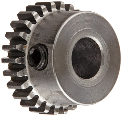 Boston Gear H3220 Spur Gear, 14.5 Pressure Angle, Steel, Inch, 32 Pitch, 0.250' Bore, 0.687' OD, 0.188' Face Width, 20 Teeth
