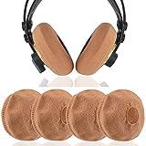 Geekria 2 pares de fundas de auriculares grandes para Sennheíser HD820, HD800S, HD800, HD700 / protectores de tela de punto elástico / se adapta a cojines de auriculares de 4.33-5.51 pulgadas (marrón)