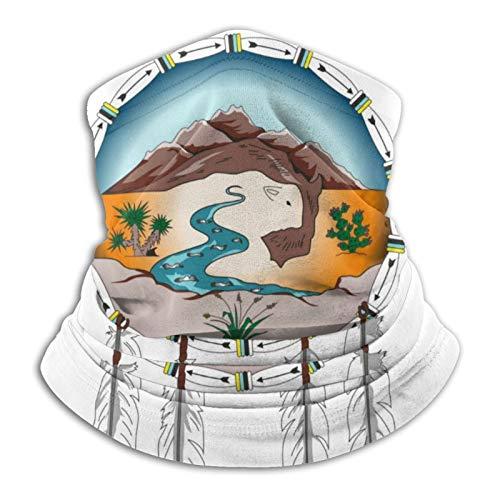 Lipan Apache Tribu De Texas Polaina De Cuello Cara Bufanda Protección Bandana Pasamontañas Elástico Resistencia UV Deporte Headwear Al Aire Libre